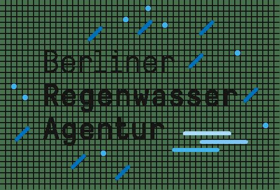 Berliner Regenwasseragentur – Logo mit Raster