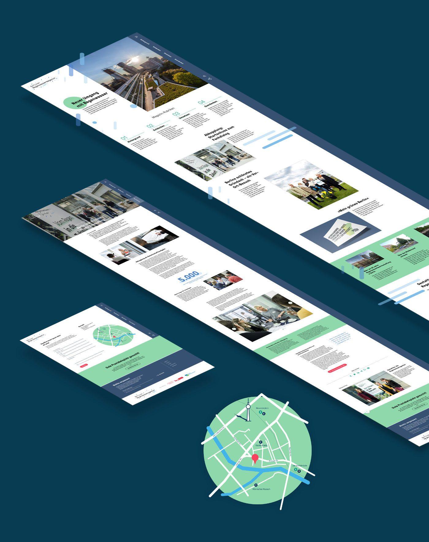 Website der Berliner Regenwasseragentur