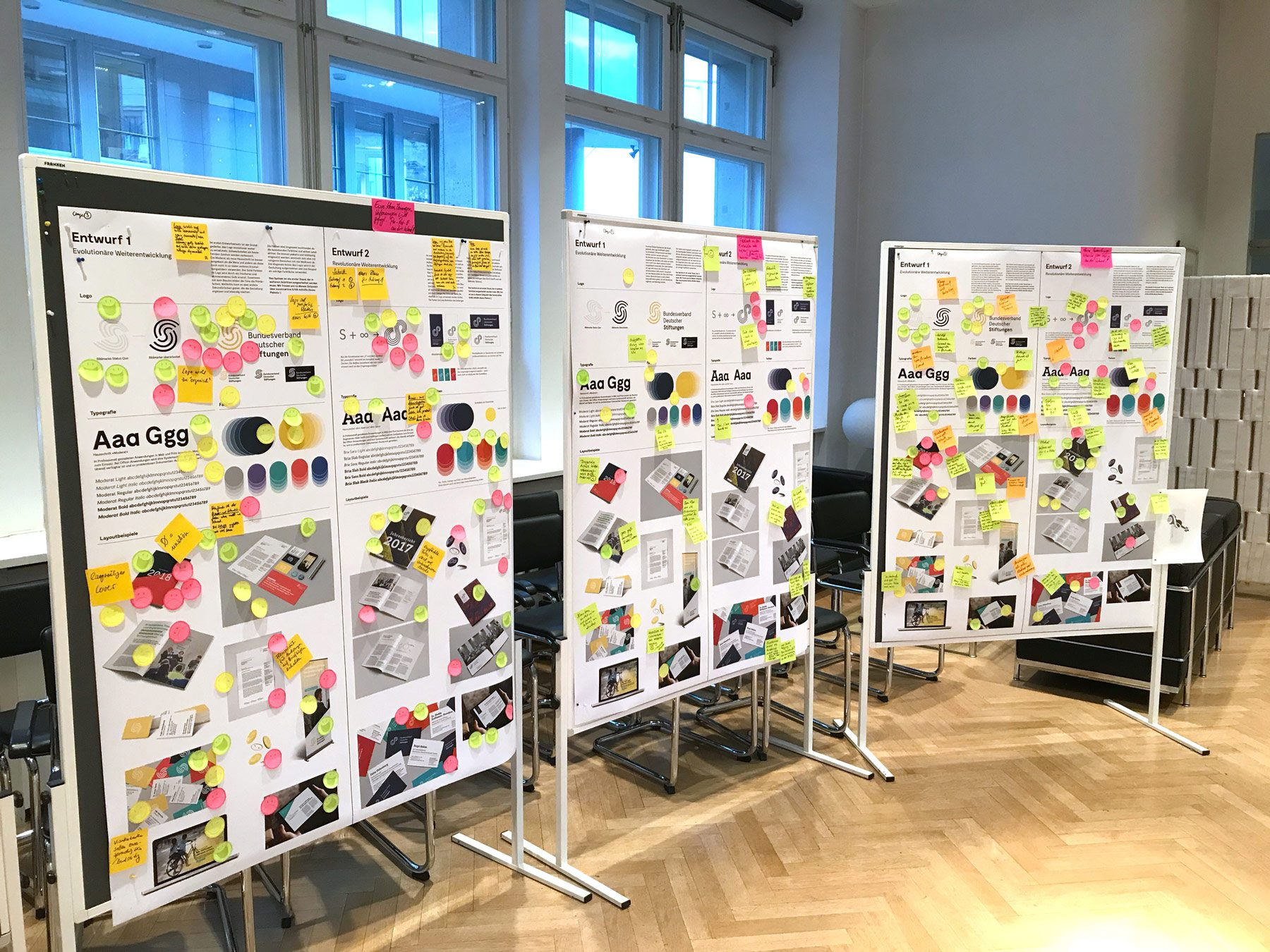 Gestaltungsvarianten Corporate Design für Bundesverband Deutscher Stiftungen