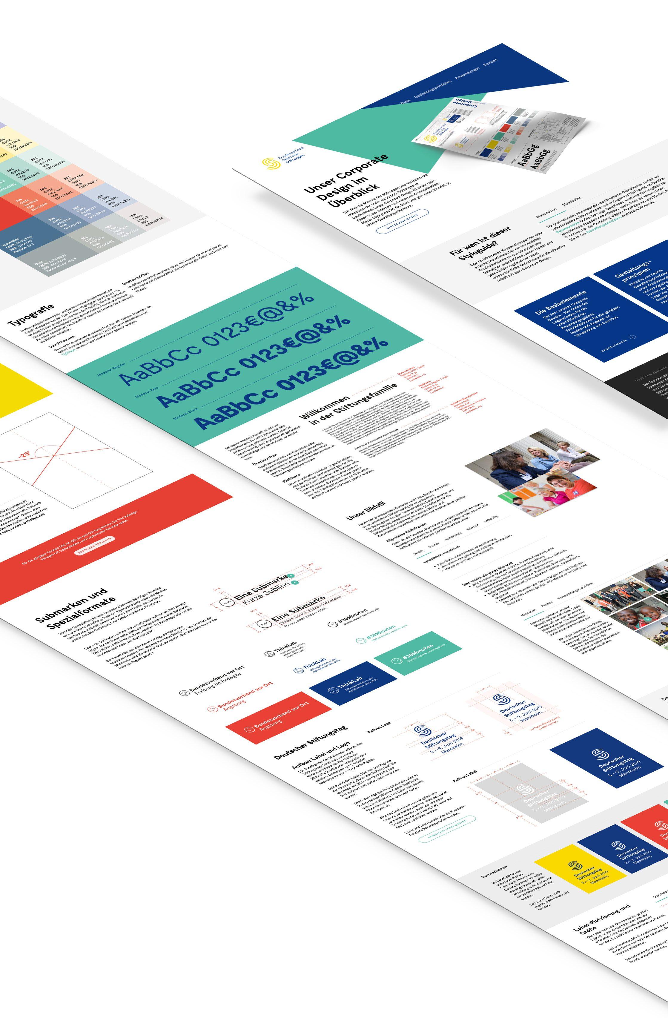 Corporate Design Leitfaden für Bundesverband Deutscher Stiftungen auf Basis von Wordpress