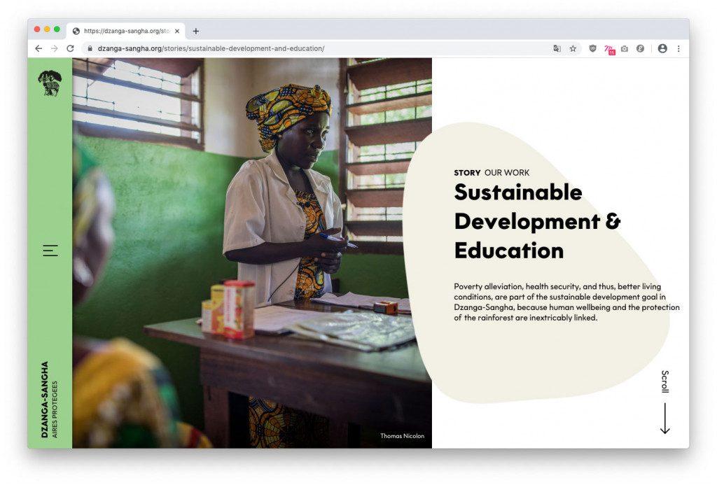 Wordpress-Website mit Schwerpunkt auf Storytelling