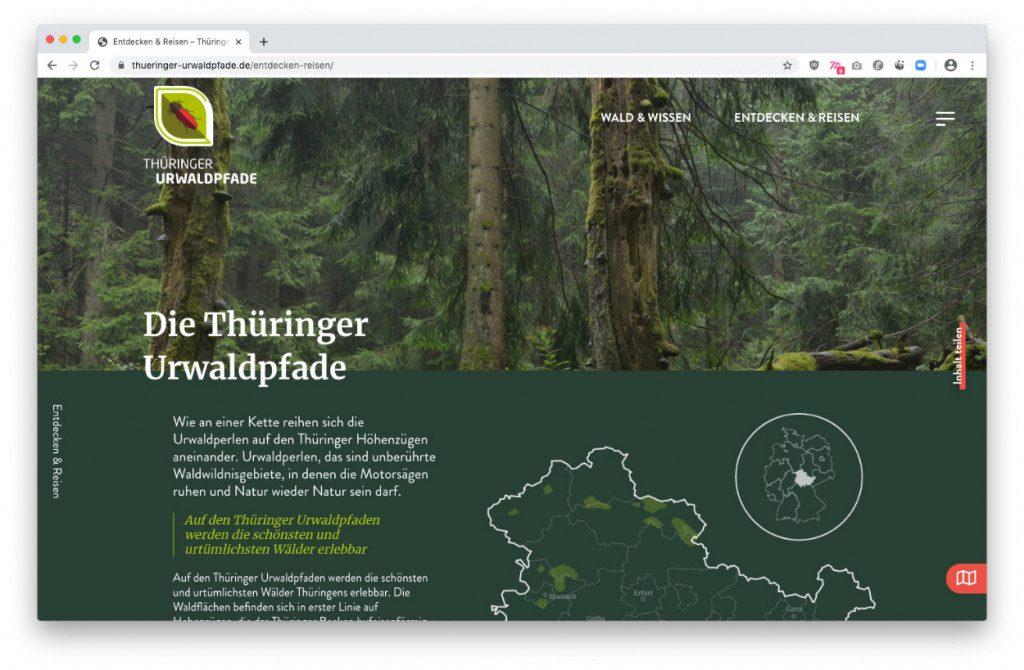 Projektseite – Thüringer Urwaldpfade