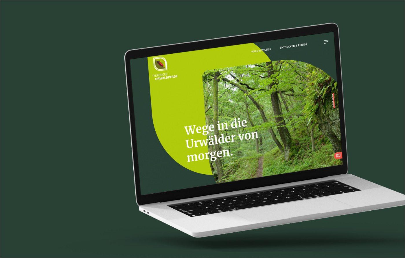 Homepage der Website Thüringer Urwaldpfade
