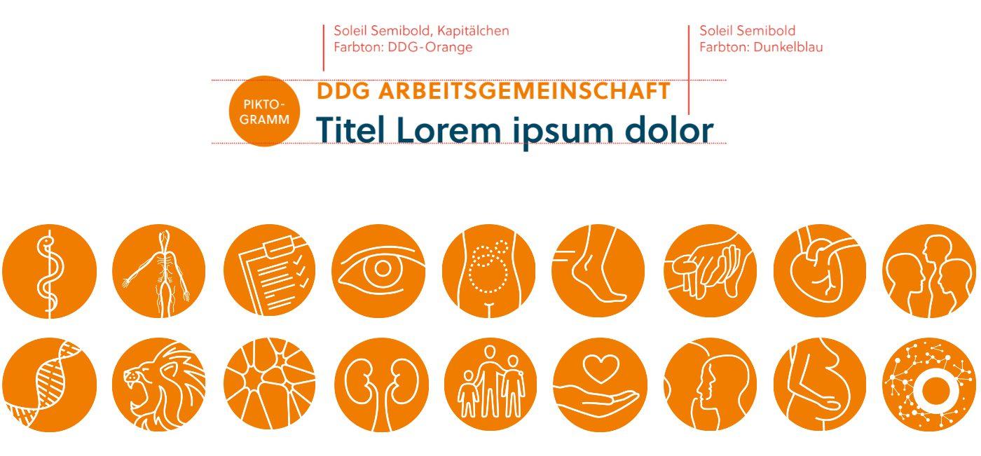 Logosystem für DDG-Arbeitsgemeinschaften