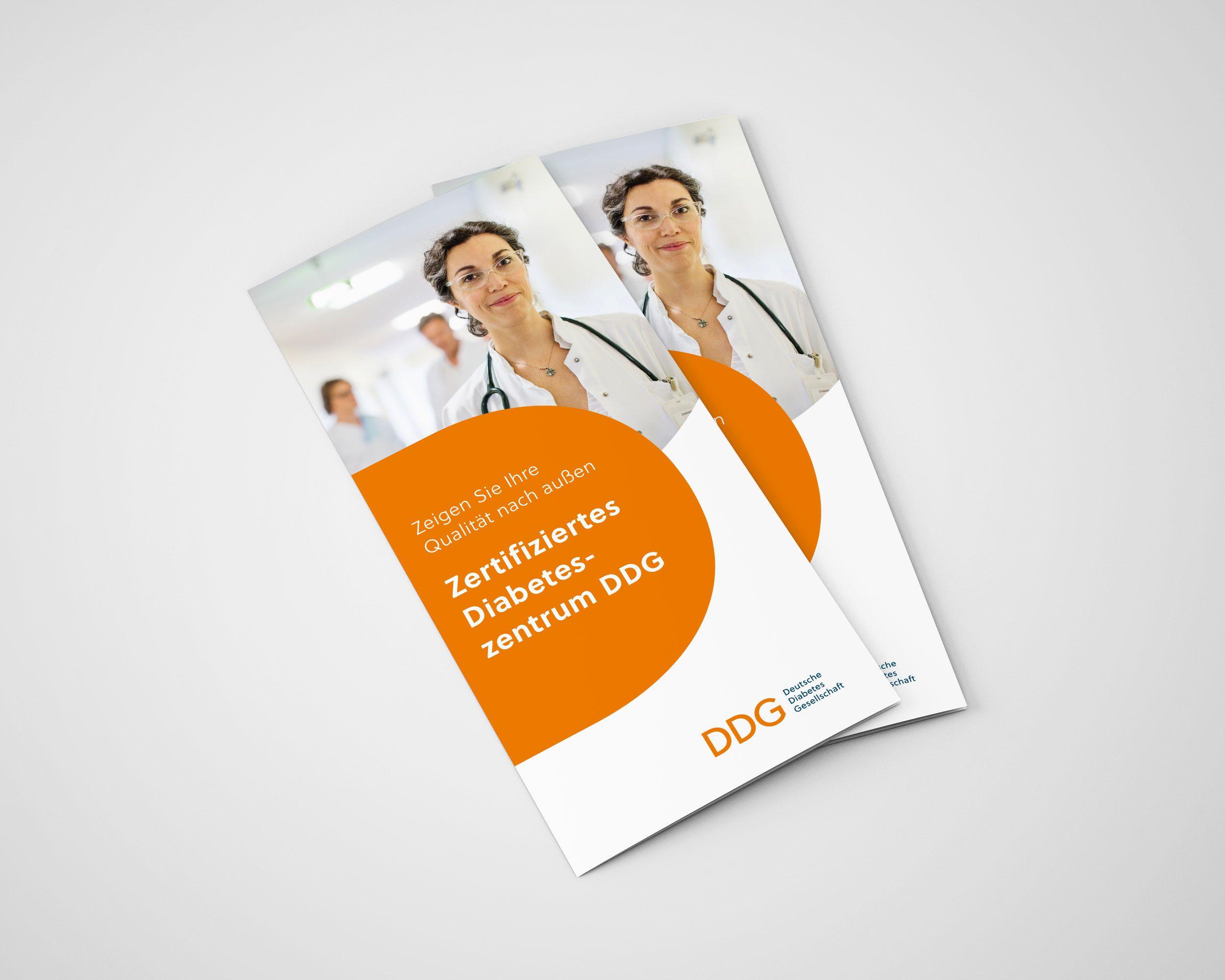 Flyerdesign für Deutsche Diabetes Gesellschaft