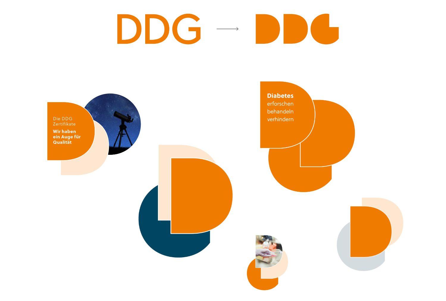 Grafische Elemente der Deutschen Diabetes Gesellschaft