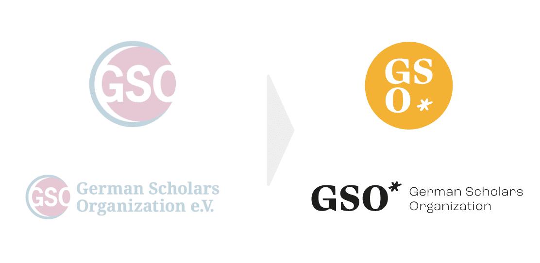 Logo vorher/nachher German Scholars Organization